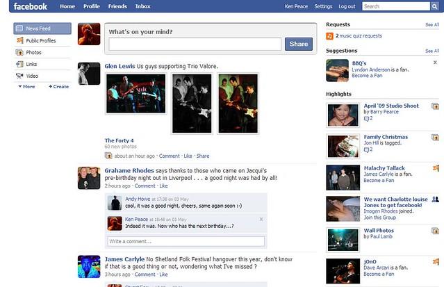 Facebook Screen Capture | Ken Peace | Flickr