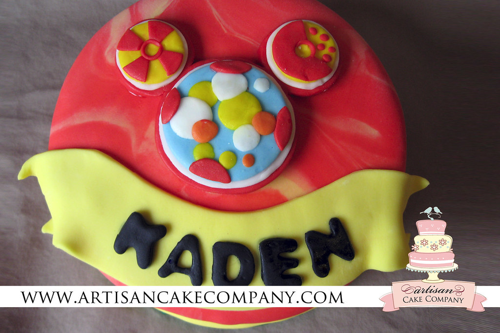 Outstanding Mickey Mouse Clubhouse Mini Fondant Toodles Birthday Cake Flickr Funny Birthday Cards Online Alyptdamsfinfo