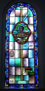 Saint Charles Lwanga stained glass