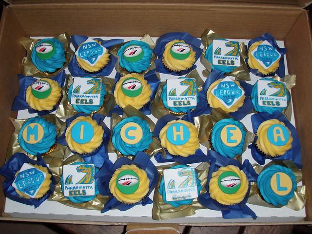 Mossy's Masterpiece - Micheal's Parramatta eels cupcakes