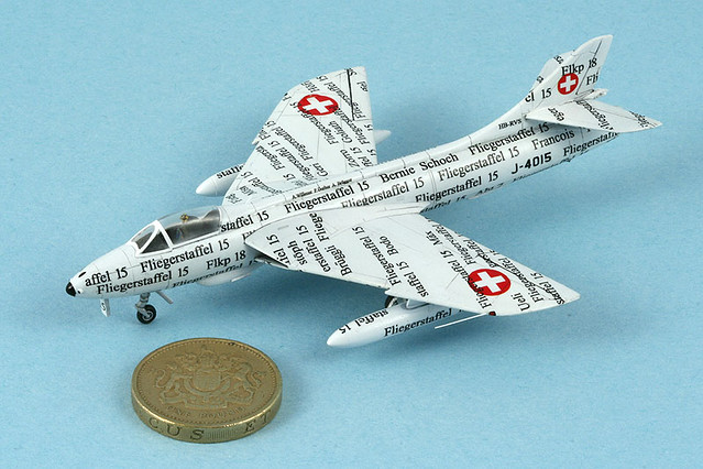Revell-Germany 1/144 Hawker Hunter | Home-made decals  | Mike G | Flickr