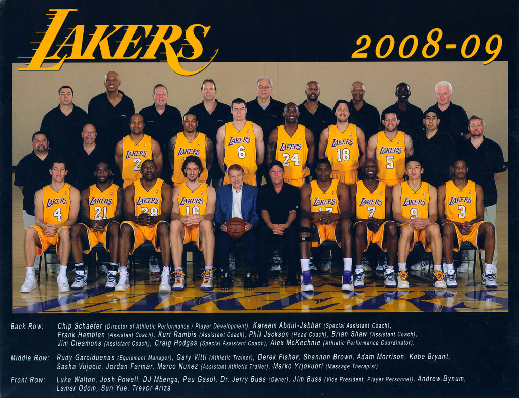 bfe229316fd 2008-2009 Los Angeles Lakers Team Picture | bruin805 | Flickr