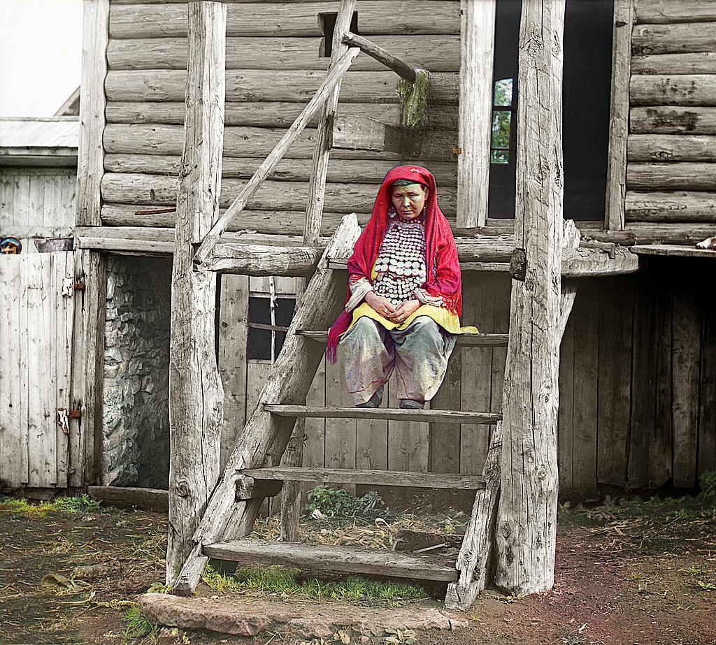 Bashkir woman in national costume, 1910