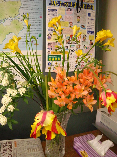 The staff room had a lovely flower arrangement | by Anz-i