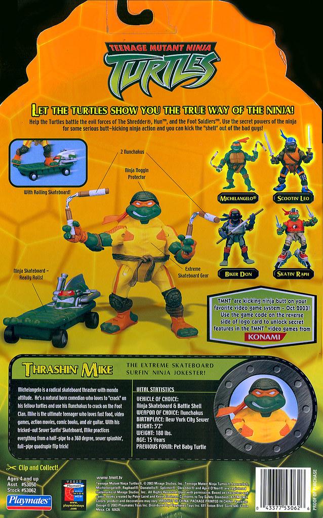 Teenage Mutant Ninja Turtles Thrashin Mike Card Back Flickr