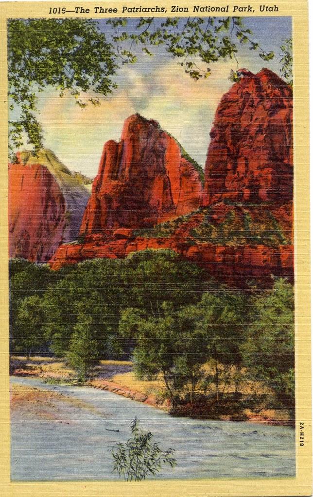 Vintage set of postcards Zion National Park Utah