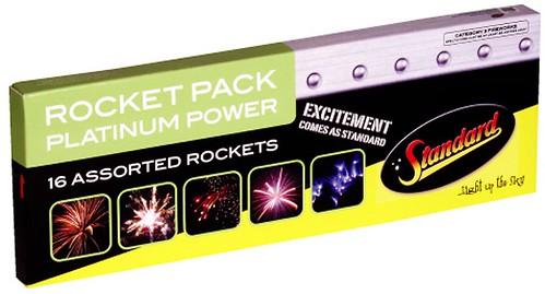Platinum Power Rocket pack by Standard Fireworks - Available at Epic Fireworks | by EpicFireworks
