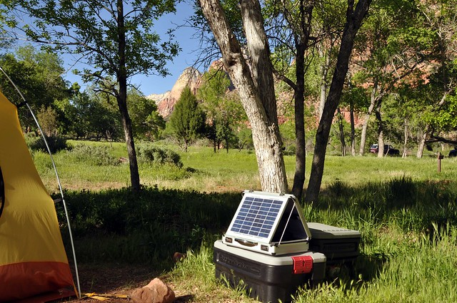 Solar Laptop Station at Zion NP