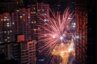 fireworks reflection | by Julien & Gwladys