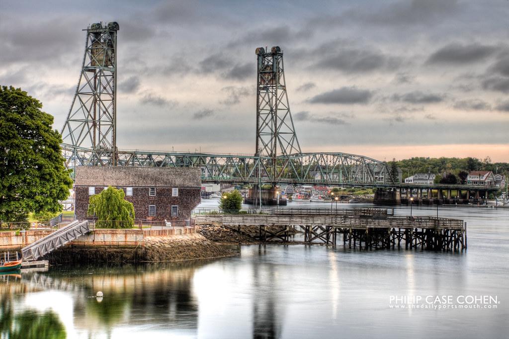 Sheafe Warehouse & Memorial Bridge by Philip Case Cohen