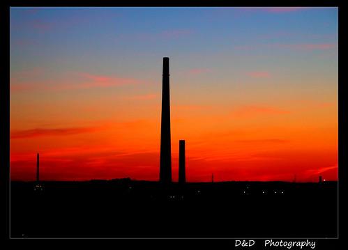 sunset sky sun plant ontario canada industry set paper gold industrial smoke stack vale plastic sudbury nickel pulp inco minning extrada nicklecapital