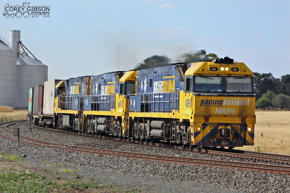 NR59, NR105 & NR36 pass through Tatyoon with the 2PM5 by Corey Gibson