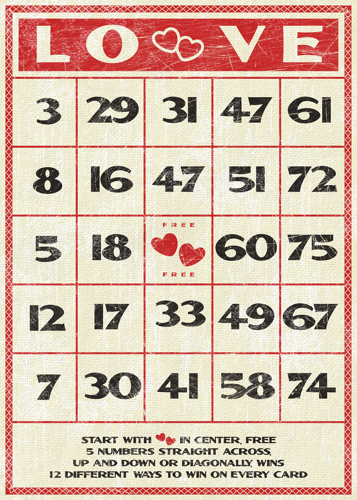 Free Valentines vintage style bingo card | Have always ...