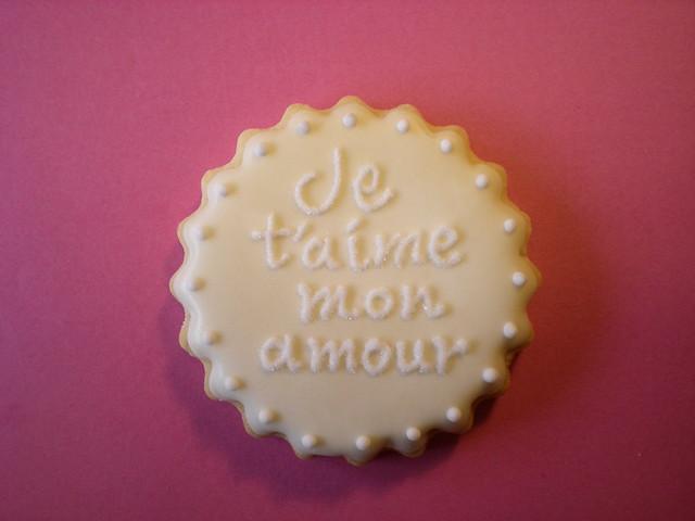 Icing Cookie Wedding Favour Je Taime Mon Amour Yukiko