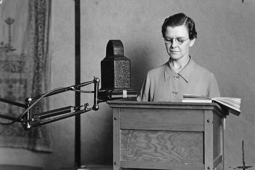 Zelta Rodenwald, director of women's programs at KOAC radio   by OSU Special Collections & Archives : Commons