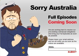 Australia Regional Copyright Page for South Park Online ...