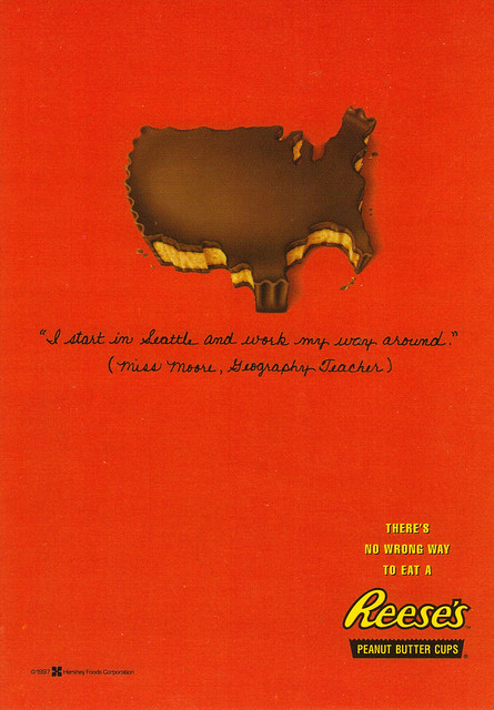 Reese's Peanut Butter Cups Ad Postcard