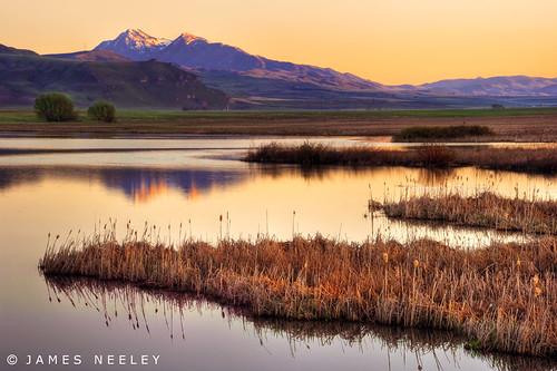 sunrise landscape utah logan hdr cachevalley 5xp jamesneeley cutlermarsh