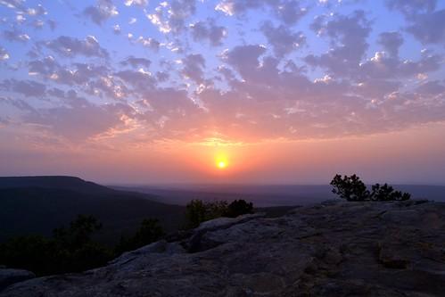 sunset sun mountain nature arkansas mtnebo