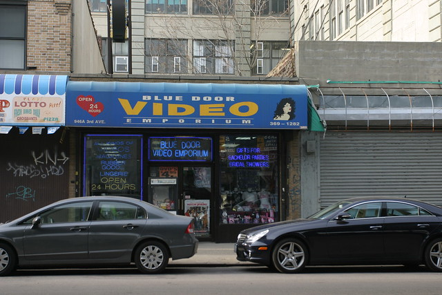 An adult video store on 3rd Avenue in Sunset Park.