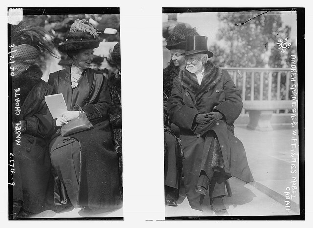 Andrew Carnegie and wife, and Mabel Choate (LOC) | Bain News… | Flickr