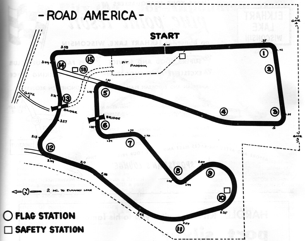 Road America 1958 track map | sunivroc | Flickr