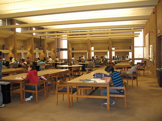 Group study space on the first floor of Odegaard | by odegaard library