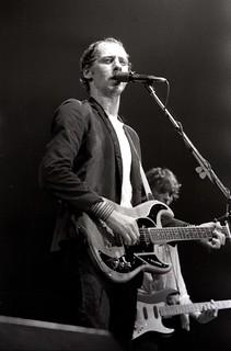 Mark Knopfler of Dire Straits with Hal Lindes, Amsterdam 1981   by Victor Schiferli