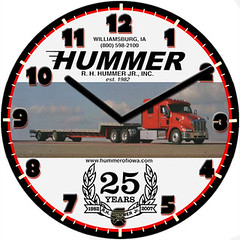 Hummer Business Clock | by customclockface