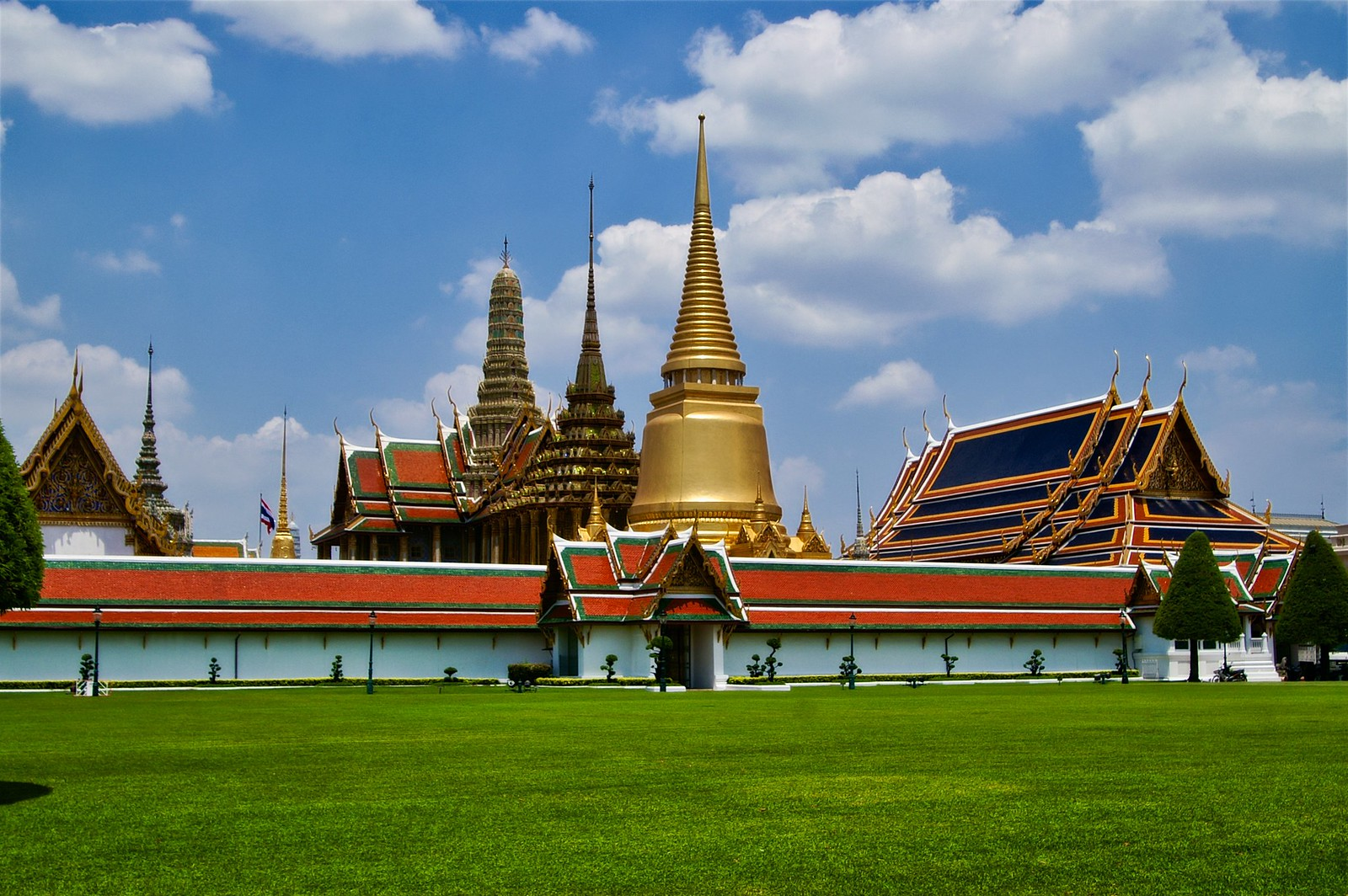 Temple area on the grounds of the Grand Palace in Bangkok