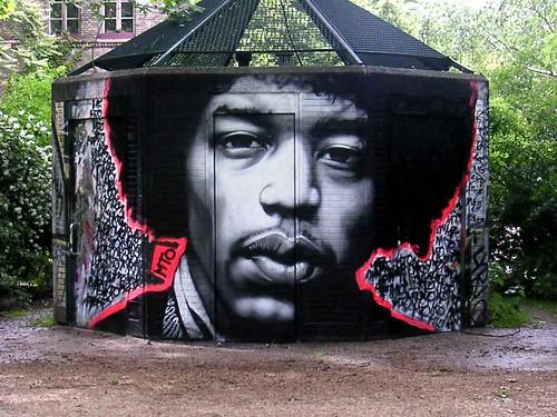 HENDRIX 2009 remastered   by MTO (Graffiti Street art)