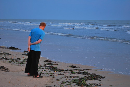 Tyler Looking at Shells | by goingslowly