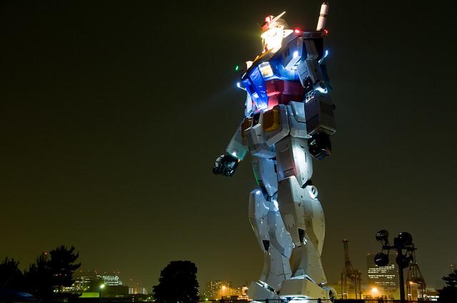 Gundam at Night