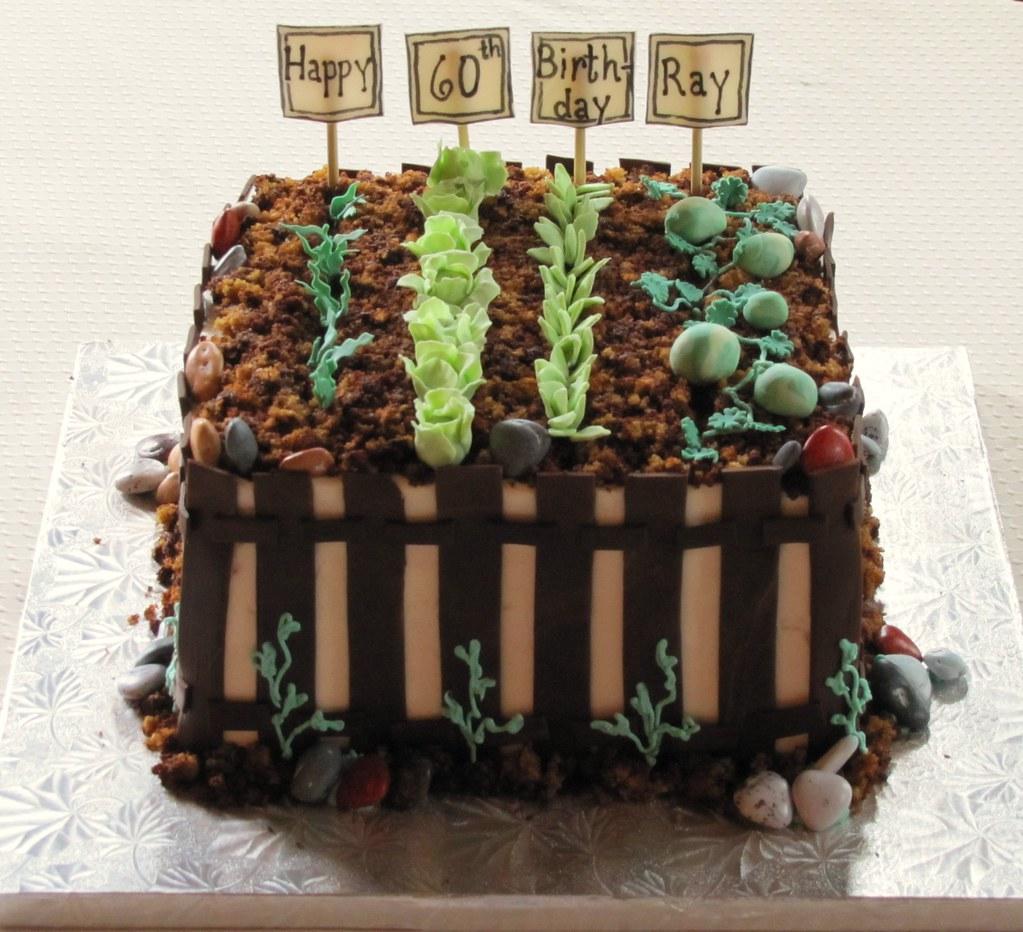 Awe Inspiring Garden Birthday Cake Had A Small Birthday Cake Order Due T Flickr Funny Birthday Cards Online Fluifree Goldxyz