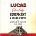 Lucas Motor Cycle Equipment 1936~57