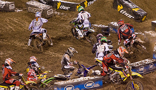 First corner pile up.