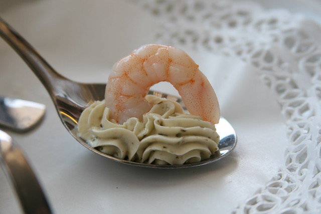 Shrimp with Herb Flavored Cheese