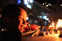 Light boy at Bauddha   by dhilung