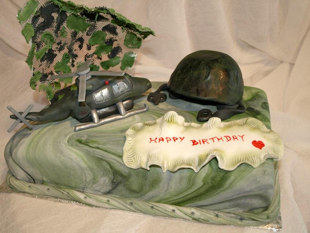 Outstanding Army Birthday Cake Gabriella Army Birthday Cake For A Flickr Personalised Birthday Cards Paralily Jamesorg