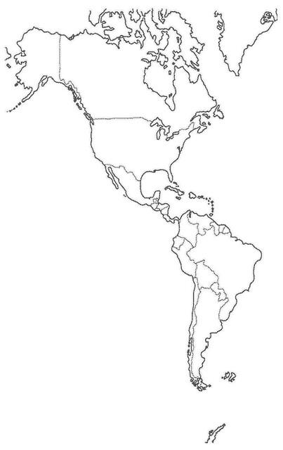 Mapa Mudo De America.Mapa Mudo America Geociencia Flickr
