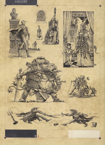 Cry Havoc Page 2 - More drawings from the same series. Not only were they used to illustrate the inhabitants of a  grim fantasy city, but also served as concept sketches for a large number of role playing miniatures.   by widdershins3