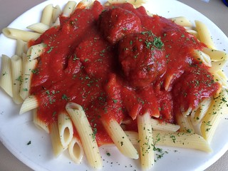 Penne Pasta Meatballs Salvatore's Italian Restaurant & Pizza Grand Rapids Food | by stevendepolo