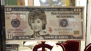 bea arthur on $10 bill | by _sushi-olin