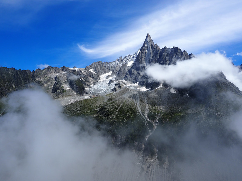 Extreme Environments - Aiguille du Dru taken from above Montenvers, Chamonix, France