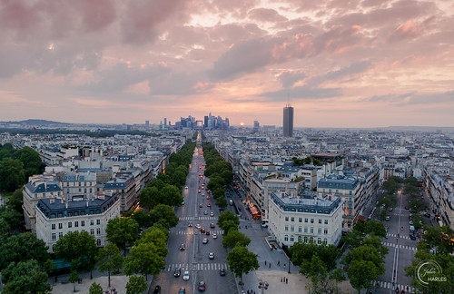 arcdetriomphe europe france ladefense ladéfense paris triumphalarch arch cloud rooftop sunset terrasse view