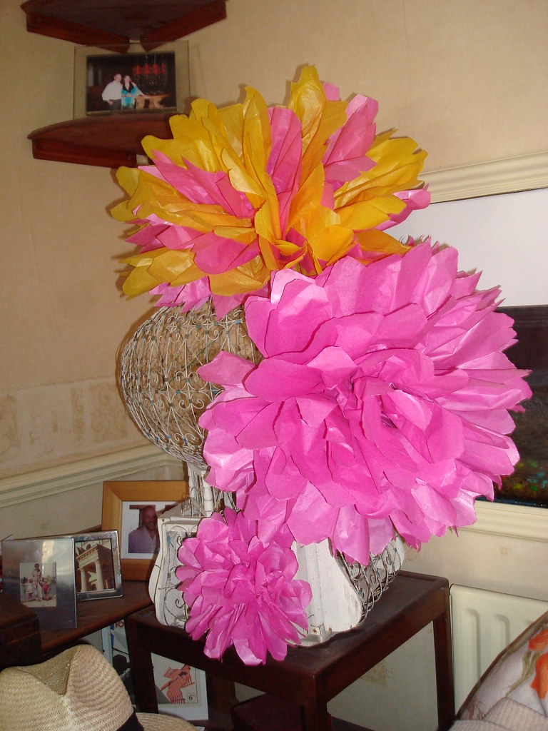 Trying Out Wedding Decoration Ideas Part 1 Tissue Paper F