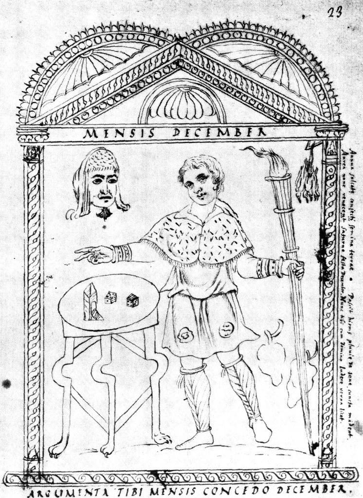 Roman calendar from 354 - December