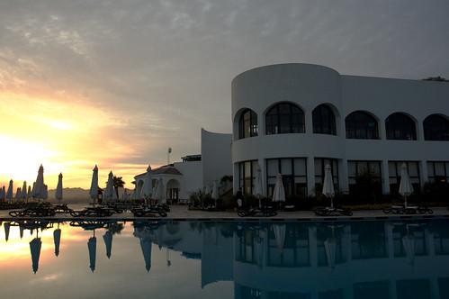 Sun setting over Sharm El Sheik