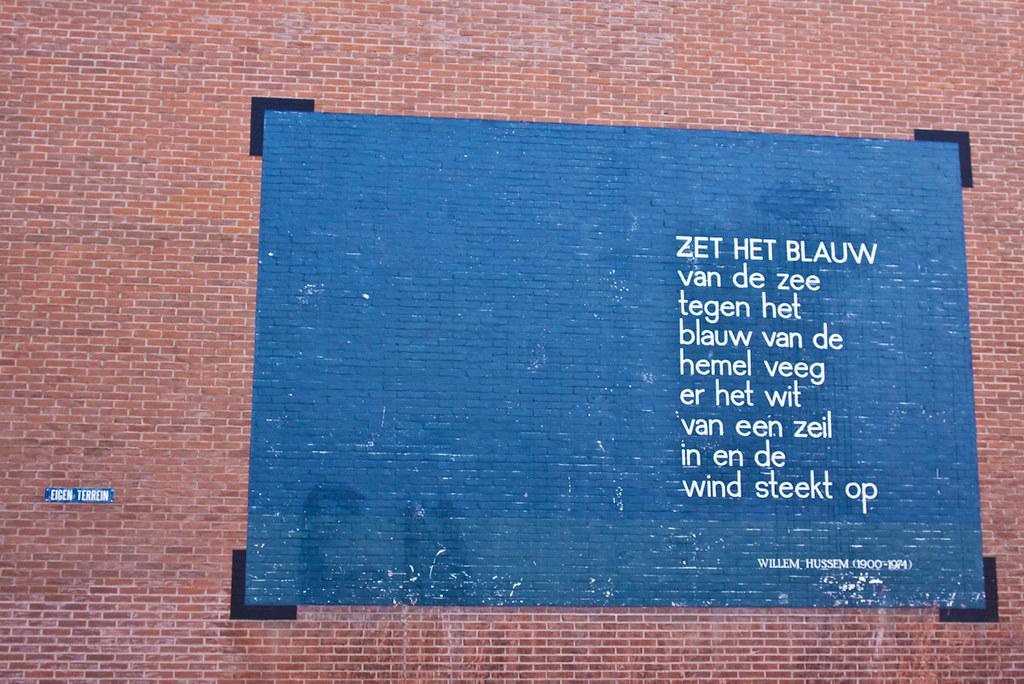 Verwonderend Tangled up in Blue   Dichter: Willem Hussem , Nederland, 190…   Flickr OC-39