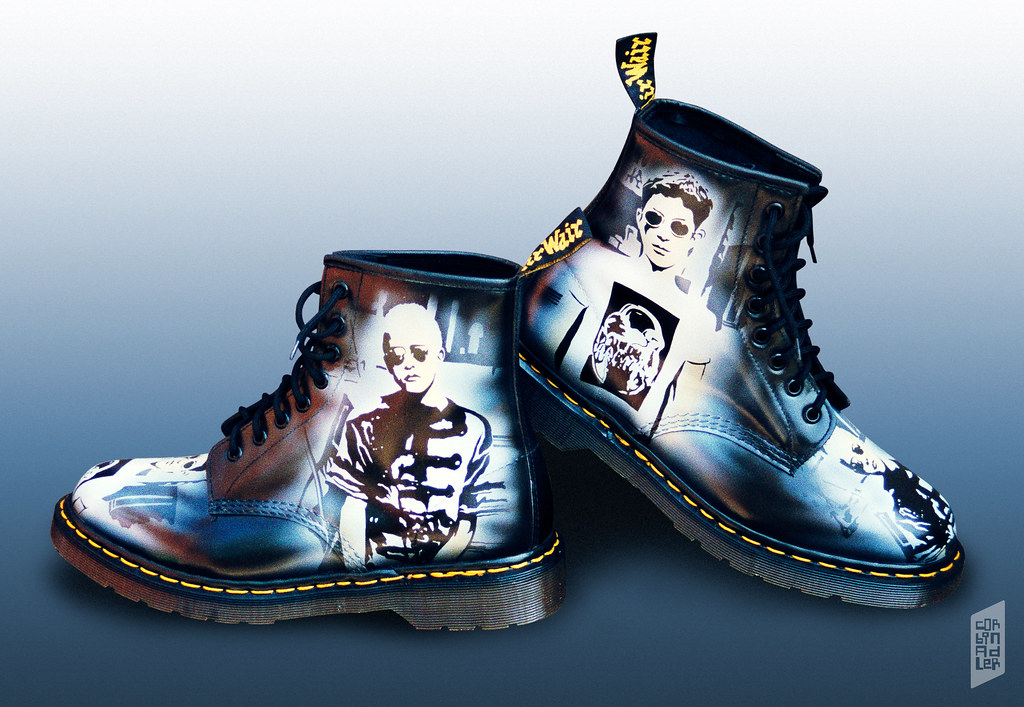 Custom Dr Martens T shirts (AirWair) | These boots were pa